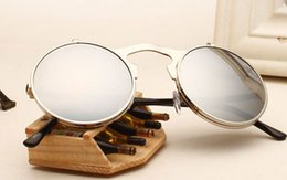 Wholesale Hot Sales Retro Vintage Gothic Round Flip Up Sunglasses Steampunk Glasses Goggles Fashion GX44 Fast shipping