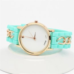 Wholesale Luxury Watches For Mens explosion watches GENEVA Geneva trade new men s silicone watch chain stock cheap Watches For Women