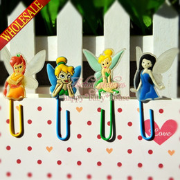 Wholesale New Lovely Tinker Bell Bookmarks Mini Paperclips Children s Learning Filing Supplies Bookmarks for Books Page Holder School Notes Clips