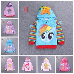 Wholesale Retail spring autumn baby girls clothes My little pony kid girl s cartoon hoodies children outwear coat girl cute hooded jumpers