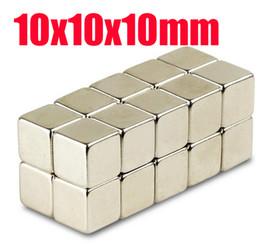 Aimant néodyme forte à vendre-10 * 10 * 10 n52 aimant en gros 20pcs forts Bloc Cube Aimants 10mm x 10mm x 10mm Rare Earth aimants néodyme