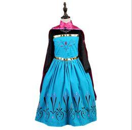 2016 frozen Girls Dresses Shawl Princess Dress Kids Clothes Girl Dresses Formal Dress Enfant Kids Clothing Formal Dress Enfant Clothes