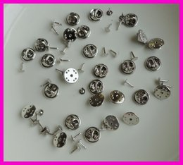 Wholesale 50PCS cm plain nickle metal butterfly clip and pins back suitable to brooches at lead free and nickle free Bargain for Bulk