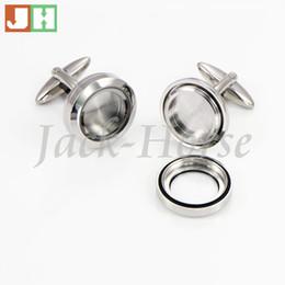 The most popular Waterproof cufflinks 316l stainless steel floating locket cufflink