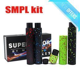 Wholesale Camo SMPL Mechanical MOD MINI Velocity RDA KIT Combo Splatter Wide Bore Drip Tips PEEK Insulators for battery