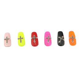 10Pcs Nail Art Alloy Decorations Glitters 3D Cross Nails Art Tools Golden Rhinestones Nail Supplies