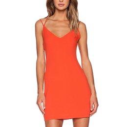 2015 Summer Style Spaghetti Strap Deep V Neck Mini Dress Women's Backless Sleeveless Beach Dress Summer Dress Y60*E3492#C5