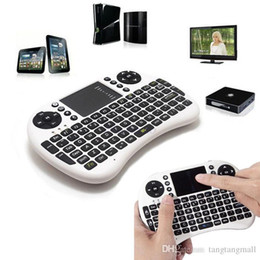 Wholesale NEW G White Mini Wireless Gaming Keyboard Touchpad Mouse Combo for HDPC Win7 Pad Google Andriod TV Box PS3 Xbox360