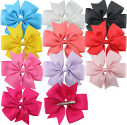 boutique baby girl ribbon hair bows clips hairpin girl's butterfly hairgrip hairwear kids hair accessories Baby Ribbon Hair Bows WITH Clip