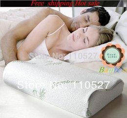 Wholesale bamboo fibercover Slow rebound memory foam pillow cervical health care