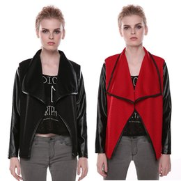 Wholesale Amazon Autumn European and American style explosion models hit color stitching lapel cape coat manufacturers spot