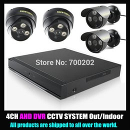 Wholesale 4 Channel Home Security Surveillance System HD P AHD Camera Outdoor Indoor with CH AVR CCTV DVR Kit
