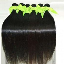 Virgin Brazilian Hair Malaysian Peruvian Mongolian Cambodian Indian Unprocessed Straight Human Hair Bundles Dyeable Best Quality Hair Weave