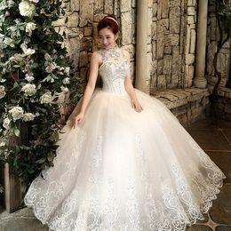 Nouvelle robe de bal de mode robe de bal frein cristal robe de mariage vintage 2015 robe de mariée en dentelle de tulle à partir de mariage strass robe de cristal fabricateur