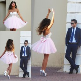 Pretty Short Homecoming Dresses 2015 Sweetheart Beaded Sequins A line Pink Short Party Wedding Gowns Custom made