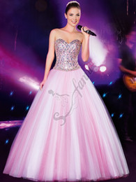 New Arrival 2019 Beaded Organza Sweetheart Tulle Quinceanera Dresses Prom Ball Gown Floor Length