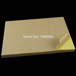 Wholesale 100 Sheets A4 Sticky Kraft Paper Self adhesive A4 Blank Kraft Label Paper for Laser Inkjet Printer
