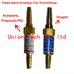 Wholesale oxy fuel Welding Cutting rubber hose or Torch Safety Valve Flashback Arrestor for Oxygen Acetylene Propane LPG Gas Torch Sets