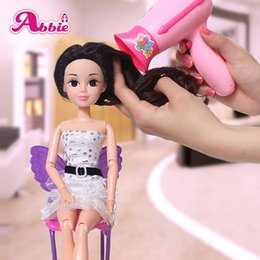 Wholesale ABBIE Hairdryer Toy Girls Beauty Salon Fashion Play Set Include Mirror And Styling Accessories Toy Educational Doll Girl s Gift