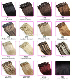 "7A 14""- 26"",10pcs Unprocessed Brazilian remy Hair straight clip-in hair remy human hair extensions, 12 colors for choose ,220g set,"