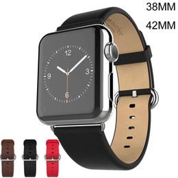 2017 bracelet en cuir véritable HOCO watchband Apple iWatch regarder Bracelet souple en cuir véritable Bracelet Bracelet Wearables sangles 38mm 42mm Avec connecteur adaptateur Strap budget bracelet en cuir véritable