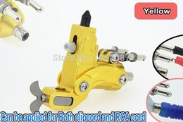 Wholesale New Arrival Aluminum Alloy King Rotary Tattoo Machine Motor Gun Can Be Applied for Both Clipcord amp RCA Cord Yellow Free