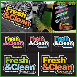 Wholesale FreshClean Fresh Clean Sticker Car fuel tank cover Sticker Fuel Tank Cap waterproof Decal Auto Styling Decoration Decal Graphics