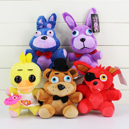 20cm Five Nights at Freddy Fazbear Bear Bonnie Foxy Duck Stuffed Plush Dolls Kid Toys Cartoon game