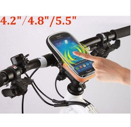 Wholesale ROSWHEEL quot quot quot Phone Bicycle Handlebar Bag Case Touch Screen Bike Bag Pouch Waterproof D Polyester PVC Cycling Bags