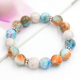 Wholesale Free Shipping Handmade Jewelry Bead Bracelet 12mm Beads with Snowflake Springrings Stretch Beads Bracelet Bangle