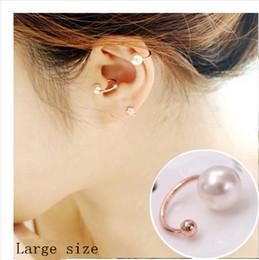 Women girl clip earring ear stud pearl diamond ear clip no pierced ear cuff fashion jewerlry earring ear clip free shipping