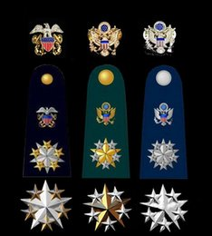 Wholesale The United States Marine Corps Air metal badge star general officer rank insignia badges