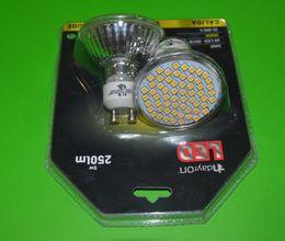 Wholesale Epistar SMD 3W AC230v GU10 Spotlights Lamps 3w AC220V LED Bulb Ceramic Glass Warm White 3000K 6000K Ra80 Free Shipping