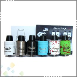 Wholesale New Design Mutation X V4 RDA Atomizers Original Mutation X V4 RDA Clone Rebuildable Atomizer With Wide Bore Drip tips DHL Free