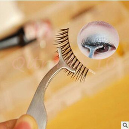 Wholesale 1000pcs CCA3026 False Fake Eyelashes Stainless Steel Tweezer Clip Eye Lash Eyelash Applicator Mascara Stocking Stuffers Makeup Remover Tools