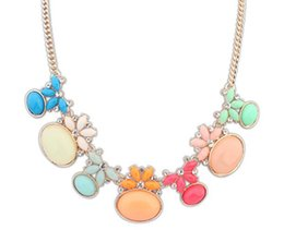 2015 Newest Beautiful Trendy Fashion Jewelry Necklace For Woman Beads Necklaces Statement Rhinestone Candy Color Z104633