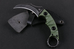 New Strider karambit knife D2 steel Fixed Blade claw knife, G10 handle hunting knives Survival Tactical Knives 2pcs lot free shipping