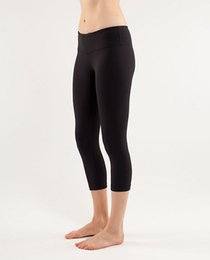 Wholesale women lulu crop yoga leggings tights sportswear for fitness black rey brand NWT size