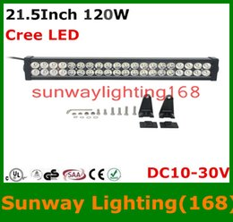 Wholesale 120W Cree LED curved light bar Flood Spot Combo Beam Off Road SUV Jeep ATVs Truck Train Boat Inch Work Light Bars