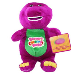 Wholesale 11 quot retail Barney The Dinosaur Sing quot I LOVE YOU quot song Purple Plush Soft Toy Doll SSF