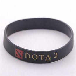 Wholesale 1pc DOTA2 key equipment dota silicone bracelet turret games bracelets for women and men P0596