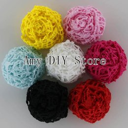 Wholesale xayakids EMS Baby Girls Boutique Fabric Rosettes Spider Web Rose Flower Accessories Artificial Rose Flowers MG006