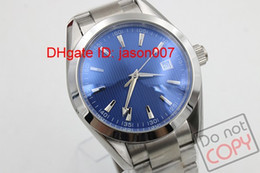 Luxury Brand New Quartz Stainless Dial Stainless Case Bracelet Mens Quartz Date Watch Men's Dark Blue Dial Wrist Watches