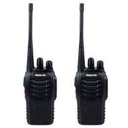 Wholesale 2pcs Retevis H Walkie Talkie UHF MHz W CH Single Band Way Radio SMA F Free earpiece A9105A