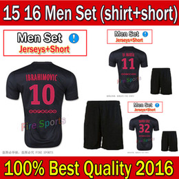 Wholesale PSG Black Soccer Jersey Short Kits for Season Sports Uniforms Football Jerseys able custom with pink fonts psg black kits