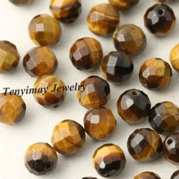 8mm Faceted Tiger Eye Stone Beads For DIY Natural Stone Beads 5 Strands Wholesale(50pcs strand)