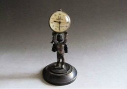 Wholesale LOVELY SUB MINIATURE CARRIAGE CLOCK DECORATED WITH ENAMEL PANELS Little Angel