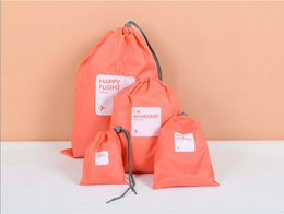Special waterproof travel 4 size classification packaging pumping Drawstring pouch waterproof package travel pack sorting pouchs Storage bag