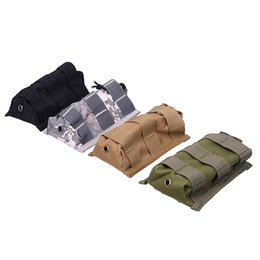 Wholesale New Molle Tactical Single Rifle Mag Magazine Pouch Open Top Bag For M4 M16 OT0105