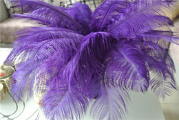 wholesale 100pcs lot 14-16inch purple Ostrich Feather Plumes OSTRICH FEATHER purple for Wedding centerpiece party event decor feather decor